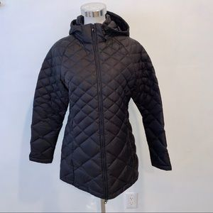 Women's North Face Quilted Parka Black Size Medium